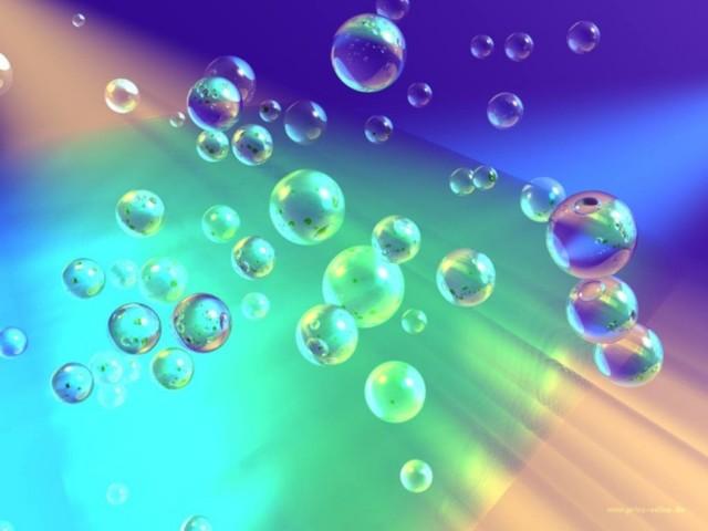 3D Bubbles Wallpaper