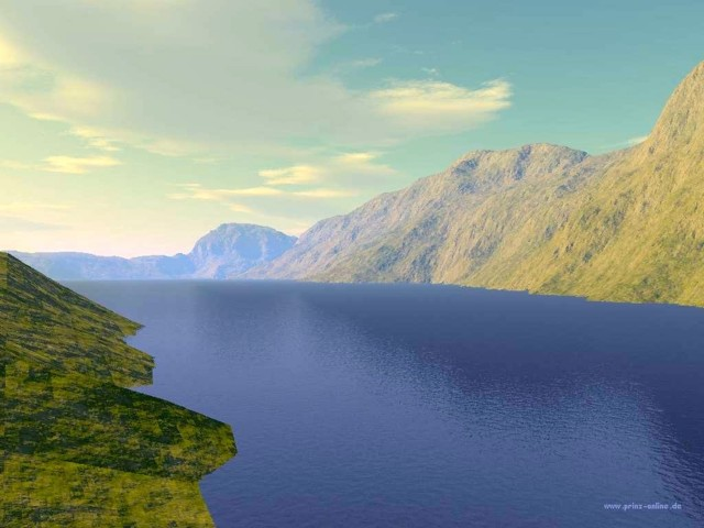 3D Lake Wallpaper