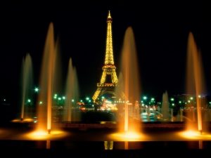 Eiffel Tower Night Lights Wallpaper