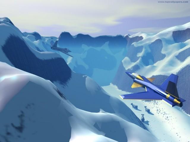 3D Planes Wallpaper
