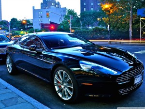 Aston Martin DB9 City Street Wallpaper