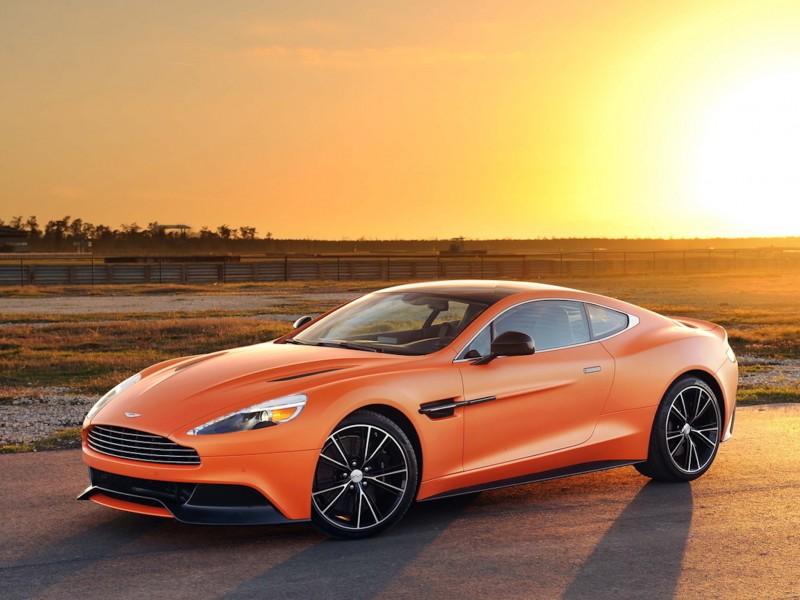 aston martin vanquish orange wallpaper - free downloads