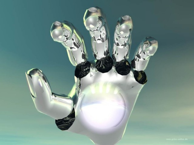 Robot Hand Wallpaper