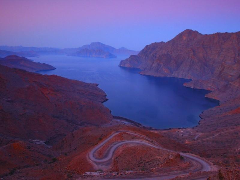 Arabian Peninsula Scenic Fjords Wallpaper