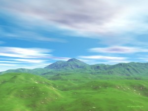 3D Hills Wallpaper