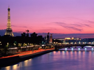Eiffel Tower Paris France Sunset Wallpaper