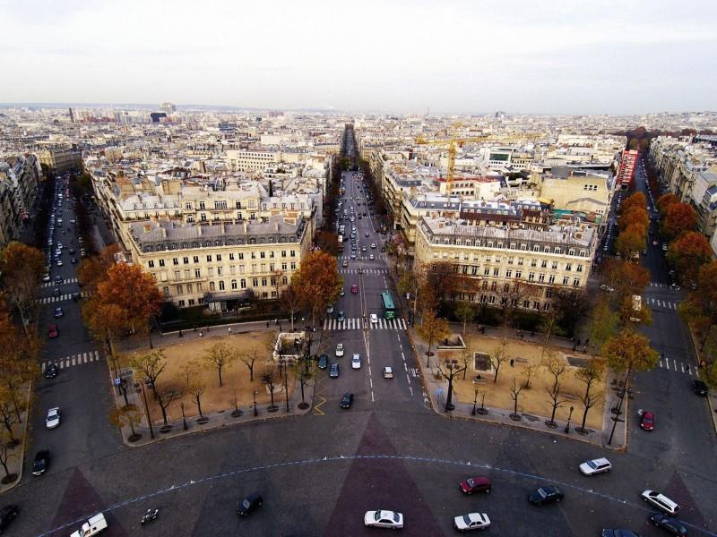 Place de l'Etoile Aerial View Paris France Wallpaper