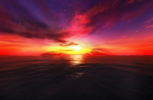 Fantasy Bright Sunset Wallpaper