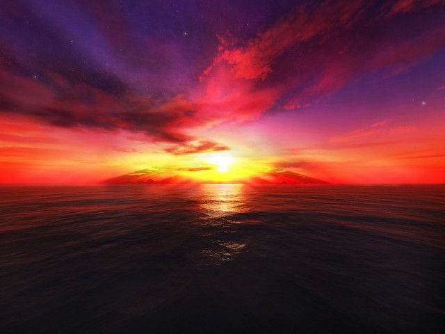 Fantasy Bright Sunset Wallpaper