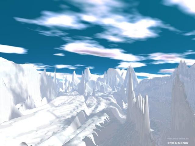 3D Iceberg Wallpaper