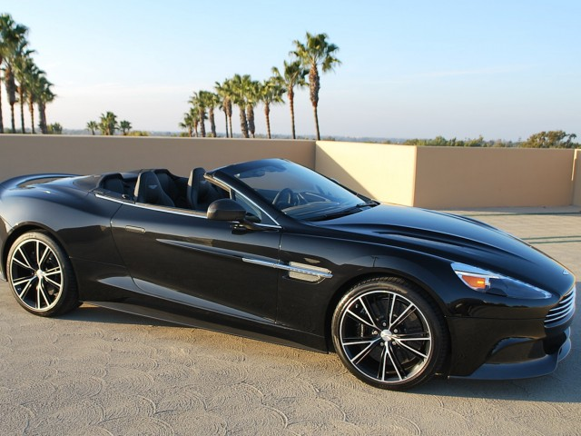 Black Aston Martin Vanquish Wallpaper (2014)