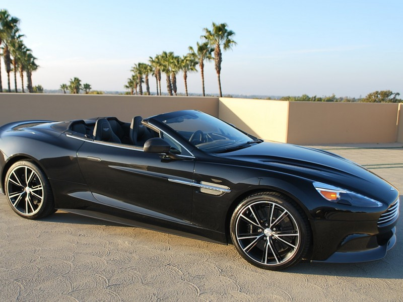 Black Aston Martin Vanquish Wallpaper 2014 Free