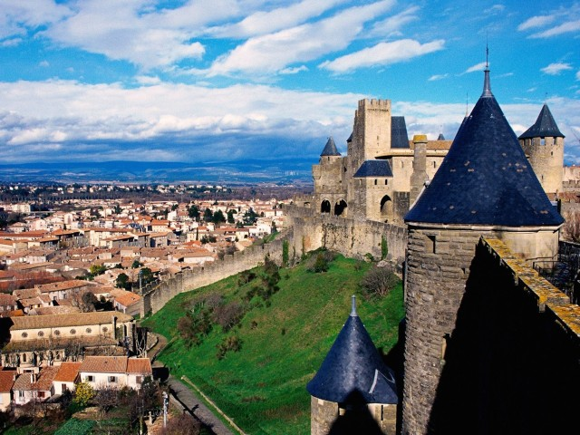 Chateau Comtal Carcassonne France Wallpaper