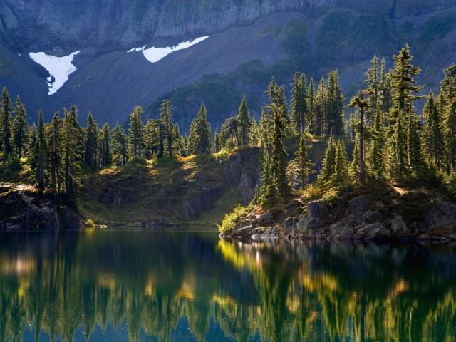 Hayes Lake Mount Baker Washington Wilderness Wallpaper