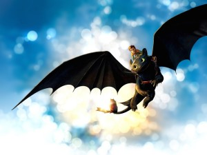 Hiccup Riding Toothless Wallpaper