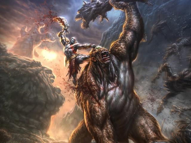 Kratos-God of War lll Wallpaper