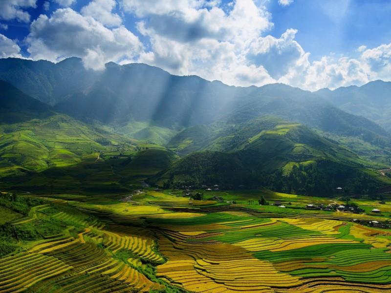 Mu Cang Chai District Vietnam Wallpaper