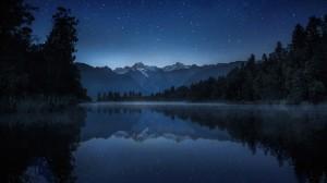 Quiet Night Lake Wallpaper