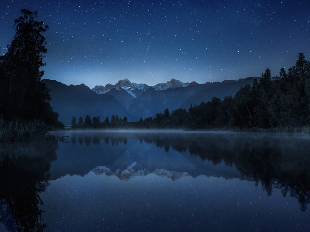 Quiet Night Lake Wallpaper