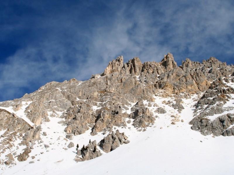 Snow Melting Mountain Wallpaper