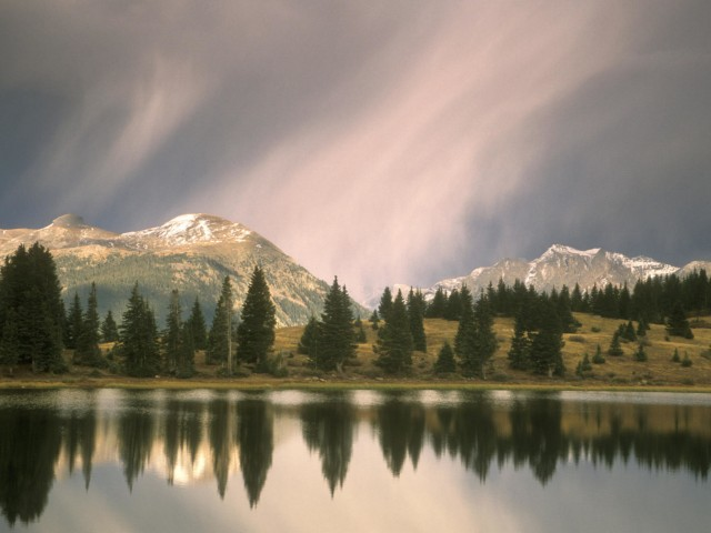 Stormy Little Molas Lake Colorado Wallpaper
