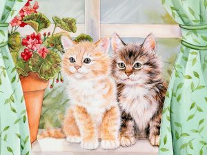 Kitten Pals Painting Wallpaper