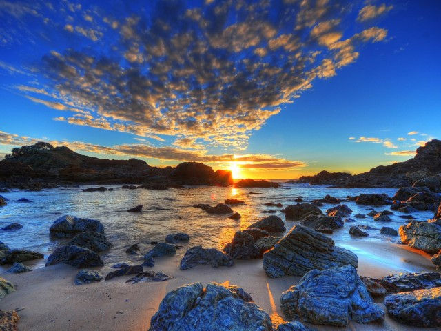 Morning Beach Sunrise Wallpaper