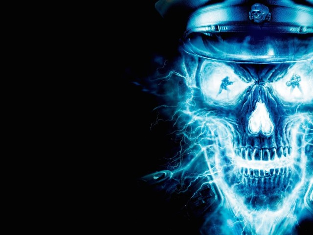 Electric Skull Wallpaper