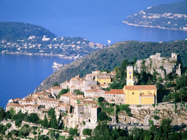 Eze and Cap Ferrat France Wallpaper