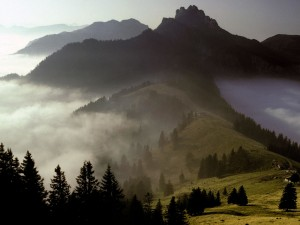 Kampenwand Mountain Bavaria Germany Wallpaper