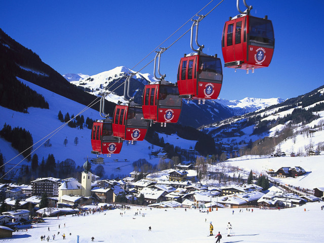 Cable Cars, Kohlmais Bahn,saalbach, Saalbach Hinterglemm, Salzburger Land, Austria