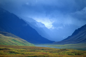 Colorful Arctic Valley, Denali National Park, Alaska