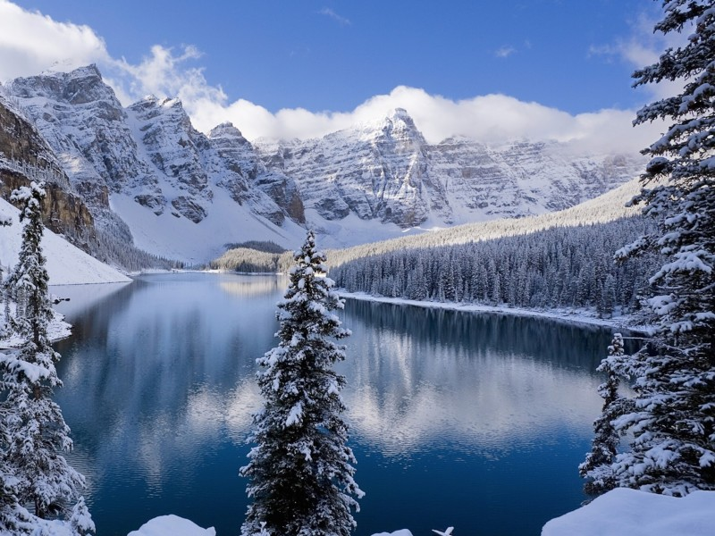 Snow Covered Mountains Wallpaper