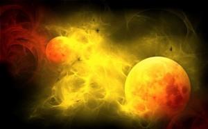 3D Sun Blast Wallpaper