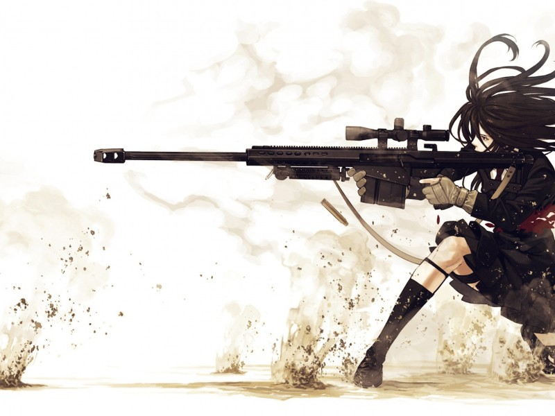 Anime Sniper Girl Wallpaper
