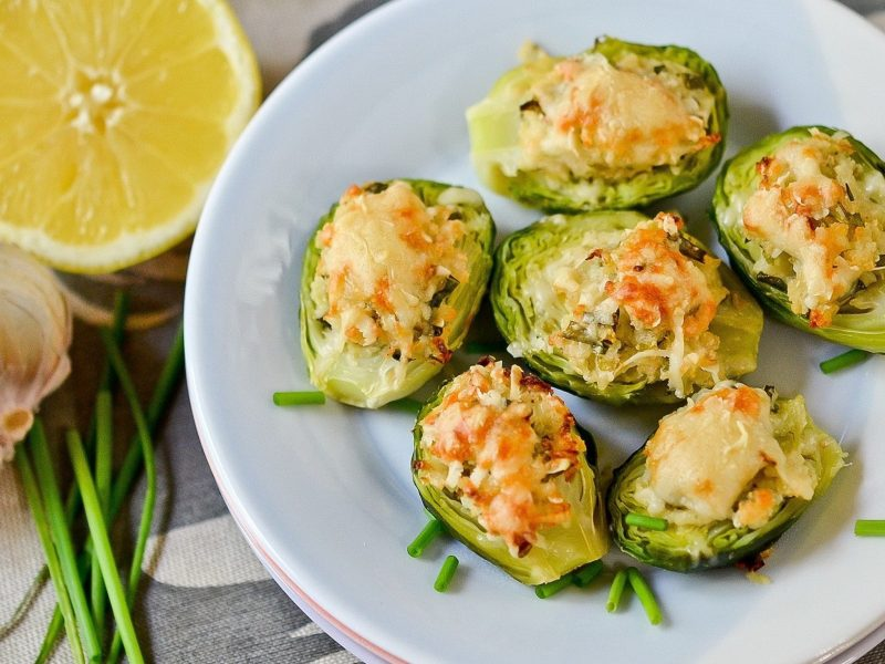 Cheese Stuffed Brussel Sprouts Wallpaper