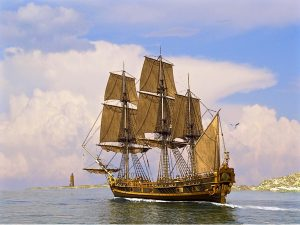 Full Rigged Ship Wallpaper