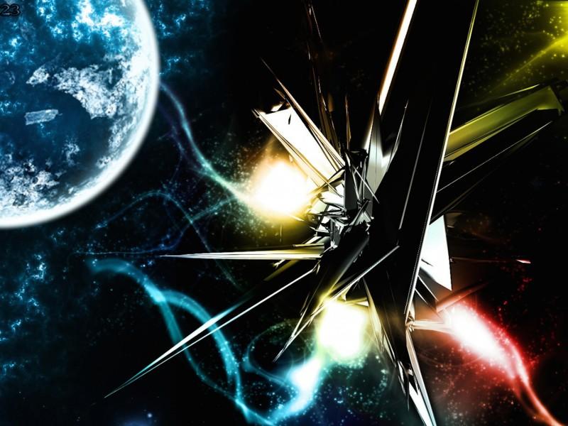 3D Space Wallpaper