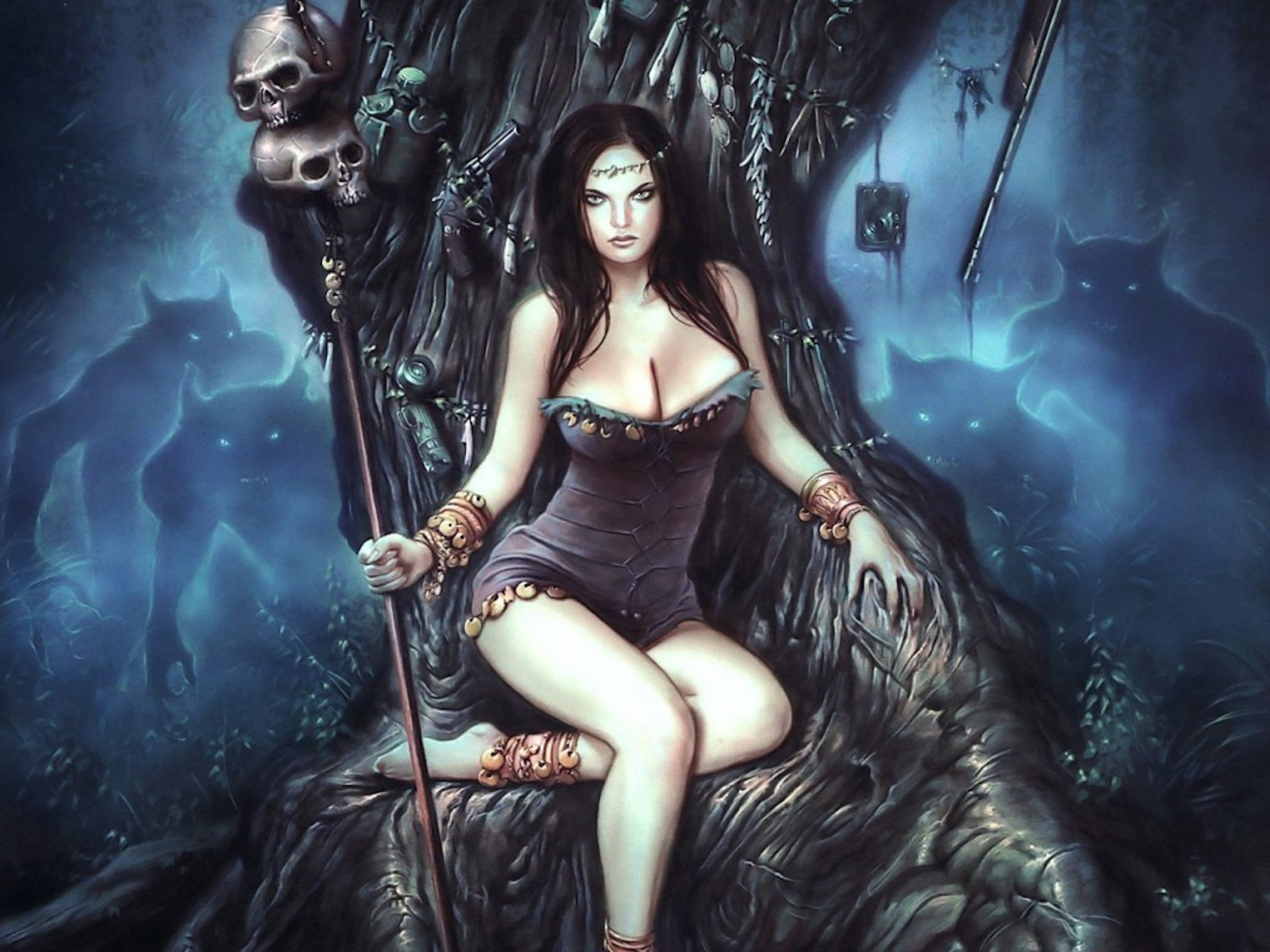 dark woman fantasy wallpaper free hd downloads