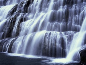 Waterfall Painting Wallpaper