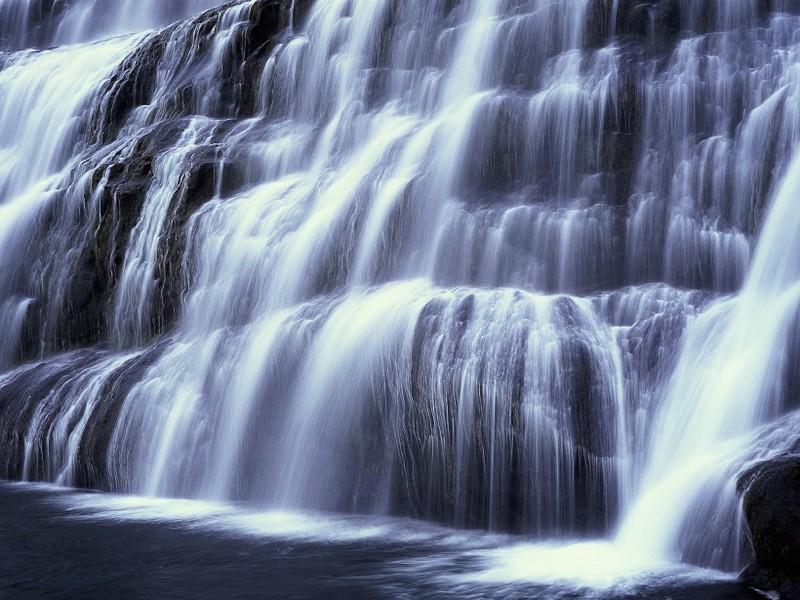 Waterfall Painting Wallpaper