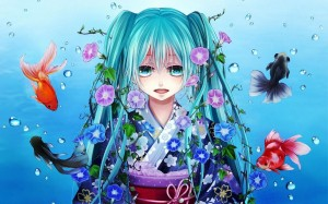 Anime Fish Girl Vocaloid Hatsune Miku Wallpaper