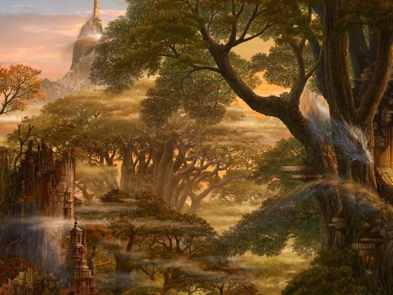 Anime Forest Wallpaper