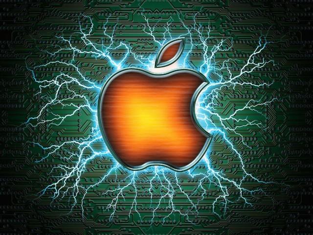 Mac Apple Electric Wallpaper