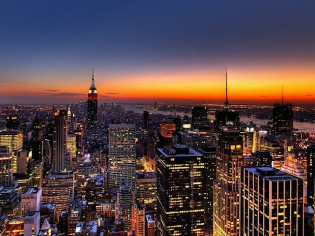 New York Sunset Wallpaper