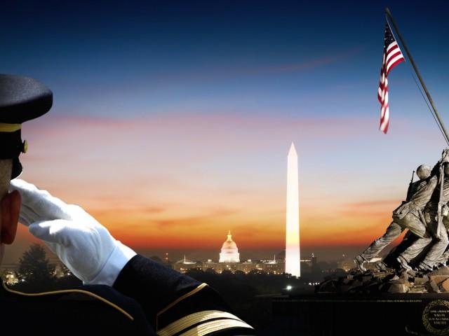 Salute American Flag Wallpaper