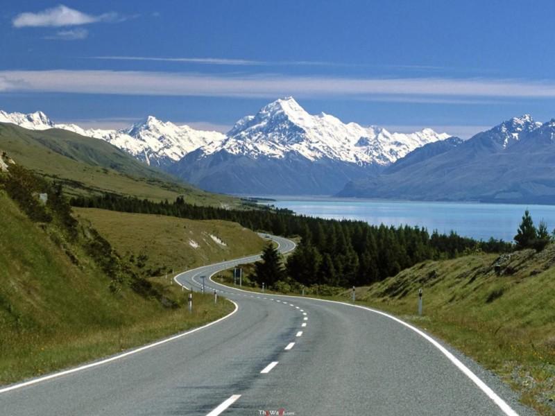 New Zealand Aoraki Mount Cook National Park Wallpaper