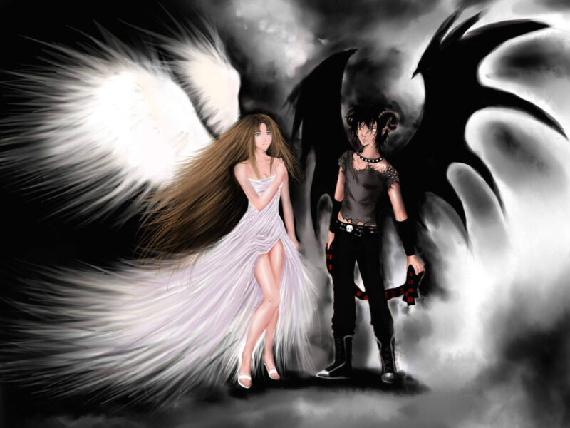 Angel Demon Wallpaper