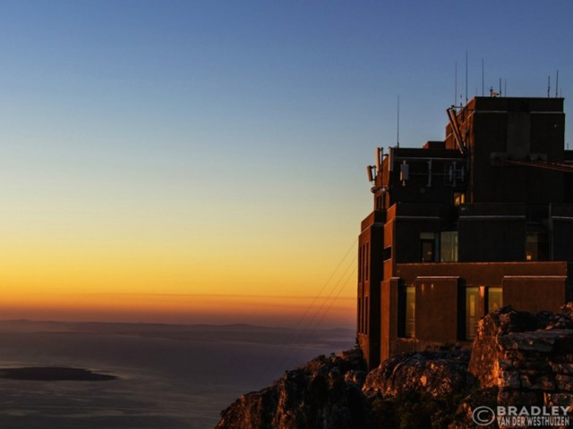 Table Mountain Cable Car Sunset Wallpaper