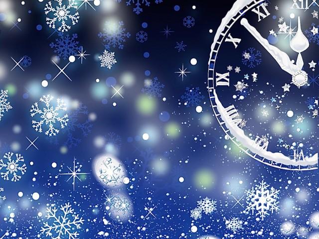 NYE Clock Countdown Wallpaper